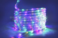 LED Rope lights in multiple colors. Great for wedding decor, christmas lights or outdoor lighting year round!