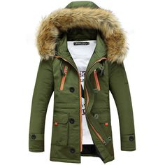 Men's Winter Warm and Thick Down Coat