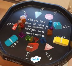 This set of 7 three-dimensional shape posters are a great way to promote visual learning in the classroom. 3d Shapes Activities, Teaching Shapes, Eyfs Activities, Creative Activities, Classroom Activities, Teaching Math, Maths Working Wall, Year 1 Maths, Tuff Spot