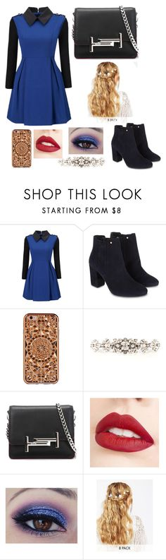 """Ravenclaw Dress Wear"" by paigelovegood ❤ liked on Polyvore featuring WithChic, Monsoon, Felony Case, Dolce&Gabbana, Tod's, Jouer and ASOS"