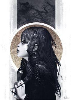 Art by Volta #digital #illustration #crow