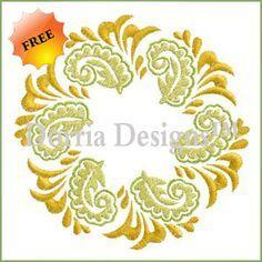 mandala machine embroidery design | Free Embroidery Designs - Dorria Designs
