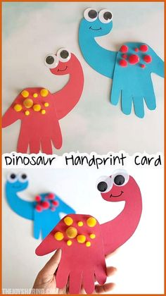 Dinosaur handprint card rainbow crafts st patricks day crafts for kids toddler crafts march crafts arts and crafts for kids crafts for kids a roll of toilet paper + soap + water best sensory experience ever! Easy Crafts For Kids, Projects For Kids, Art For Kids, Kids Diy, Easy Preschool Crafts, Crafts For 3 Year Olds, Toddler Art Projects, Children Crafts, Easter Crafts For Preschoolers