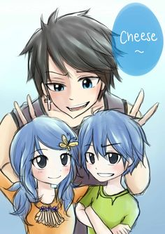 Gruvia kids by fairy mage on tumblr