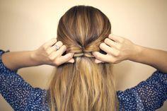 Cómo hacer un peinado de media cola con moño en pocos pasos? | Decoración de Uñas - Manicura y Nail Art