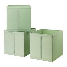 """12 ¼x13 ½x13 """"SKUBB Box - light green - IKEA also black & white"""