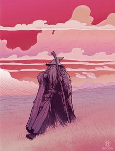 Gandalf by PJ McQuade #lordoftherings #hobbit #fanart