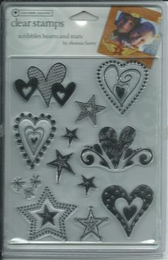 Autumn Leaves Brand Clear Acrylic Stamp Set    NEW by sagebrush12, $6.00