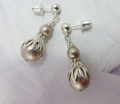 Excited to share the latest addition to my shop: Wedding Pearl Drop Earrings Swarovski Bride Bridal Jewelry Gift Bridesmaid Dress Antique Jewelry champagne jewellery weddings earring Pearl Earrings Wedding, Silver Drop Earrings, Dangle Earrings, Rose Gold Pearl, Pearl Cream, Bridal Jewelry, Jewelry Gifts, Jewellery, Heart Shaped Diamond
