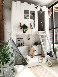 I'm a sucker for this fabulous neutral playroom Creative Kids Rooms, Cool Kids Rooms, Baby Bedroom, Girls Bedroom, Bedroom Decor, Girl Bedroom Designs, Kids Room Design, Dream Rooms, Kid Beds