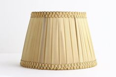 Vintage Pleated Fabric Lampshade for Table Lamp  by CrolAndCo
