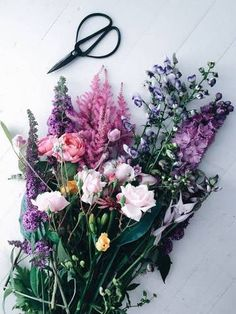 These are all so pretty and probably smell AMAZING!!! - An eclectic mix of spring florals.