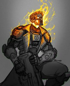 Comic Character, Character Concept, Concept Art, Character Design, Overwatch, Ghost Rider Marvel, Futuristic Art, Epic Art, Fantasy Characters