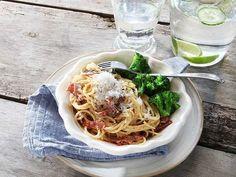 WW ViktVäktarnas snabba meny – 8 rätter på 20 minuter   Köket.se Spaghetti, Diet, Baking, Pasta Carbonara, Ethnic Recipes, Food, Pesto Recept, Diabetes, Bread Making