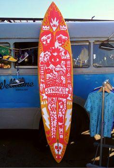 RICARDO·CAVOLO DIARY: Handpainted surf board.