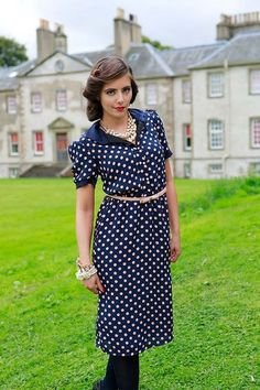 Polka Dot Dufftown Dress from the Tartans and Tweeds Collection by Shabby Apple