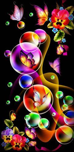 Blue Butterfly Wallpaper, Wallpaper Nature Flowers, Crazy Wallpaper, Fairy Wallpaper, Cute Galaxy Wallpaper, Bubbles Wallpaper, Beautiful Landscape Wallpaper, Flower Background Wallpaper, Beautiful Flowers Wallpapers