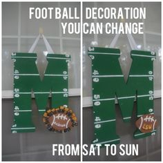 football-door-decoration-for-multiple-teams Tombow Fastener Tabs would be perfect for this project!