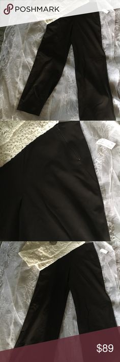 Equestrian slacks Equestrian slacks brown high waist slit zipper detail wide leg pants NwT equestrian Pants Wide Leg