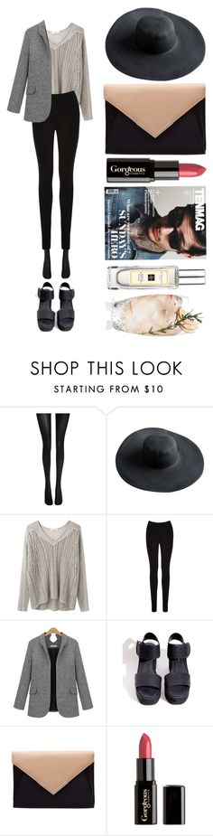 """""""OfficeStyle"""" by brillantrose ❤ liked on Polyvore featuring Wolford, Helmut Lang, Oasis, Gorgeous Cosmetics and Jo Malone"""