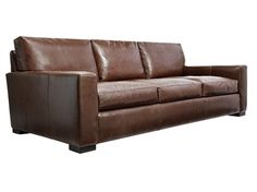 Lounge for TV Room - in distressed 'saddle' leather with end chaise