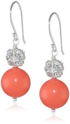 Coral Colored Shell with Fireball Accents Drop Earrings Amazon Curated Collection http://www.amazon.com/dp/B005S4DEMY/ref=cm_sw_r_pi_dp_o77Mtb1W3QCZDACQ