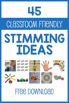 Looking for non-distracting ways to stim in class? Free download with dozens of ideas for easy and inexpensive ways to stim in a shared space.