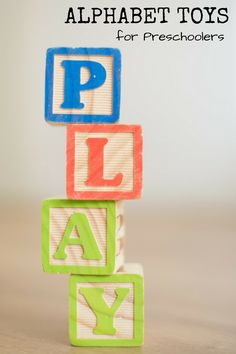 Alphabet toys for preschoolers are great for early childhood development.