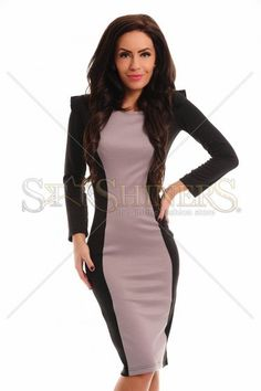 StarShinerS Eternity Grey Dress Great Cuts, Daily Dress, How To Get Warm, Warm Sweaters, Warm Outfits, Dresses For Work, Formal Dresses, Clothing Items, Gray Dress