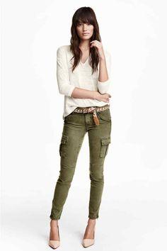 Spodnie cargo z lyocellem   H&M