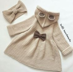 Best 12 Simple and Cute Baby Cardigan Free Pattern Images for 2019 – Kids Crochets – SkillOfKing. Crochet Baby Jacket, Crochet Coat, Baby Girl Crochet, Crochet Baby Clothes, Crochet For Kids, Baby Cardigan, Baby Sweaters, Baby Knitting Patterns, Mantel