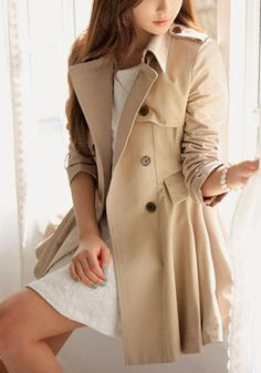 Flared Double-Breasted Trench Coat on Behance