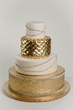 Golden cake Gouden taart