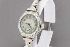 Elgin Ladies Hand Engraved Wrist Watch 14K by timekeepersinclayton