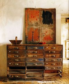 drawers with perfect patina