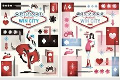 Like these card-inspired graphics