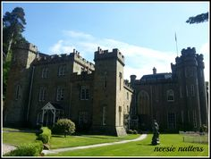 The rear view of Drumtochty Castle, Aberdeenshire, Scotland