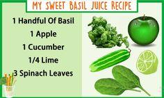 My Sweet Basil Juice Recipe  #Juice #Recipe #Health