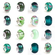 16pcs Set Murano Glass Beads European Lampwork Charms for Handmade Bracelet MB0 - New Arrivals- - TopBuy.com.au