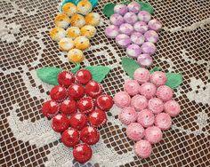 Vintage Grape Trivets Crochet Bottle Caps Set of 4. $16.00, via Etsy.