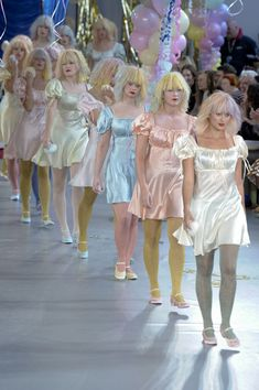 aclockworkpink:  Meadham Kirchhoff Finale S/S 2012, London Fashion Week  This is a fashion show? it looks like a courtney love convention