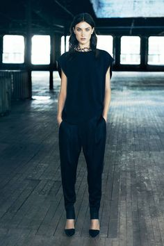 AllSaints Spring 2014 #NYFW #fashion #black #nyfw #nyfw2013 #mbfw #newyorkfashionweek2013 #divinecaroline #fashion #style #trend