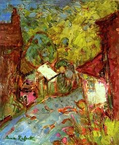 The Lane through the Town Anne Redpath (I love the colors, makes the scene feel like an adventure)