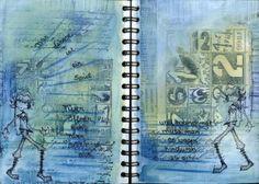 Sample Stempel Mekka 2011, Art Journal Page - Daniela Rogall