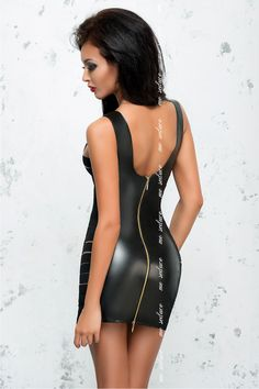 Эротическое черное мини-платье на молнии Me Seduce MeS_Lea, купить за 2220руб. в интернет магазине!