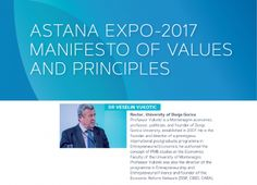 "UDG  Rector prof. dr Veselin Vukotić one of the authors of ""ASTANA 2017 Manifesto"