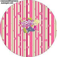 """Imprimés Thème """"Polly Pocket"""" : http://fazendoanossafesta.com.br/2012/12/polly-pocket-kit-completo-com-molduras-para-convites-rotulos-para-guloseimas-lembrancinhas-e-imagens.html/"""