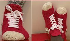 DIY How to Crochet Converse Slippers