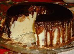 Receita de Gelado de Creme com Calda de Chocolate - CyberCook...