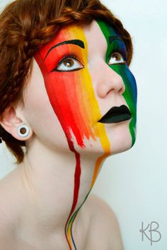 The rainbow mime~ this is such a cool look!